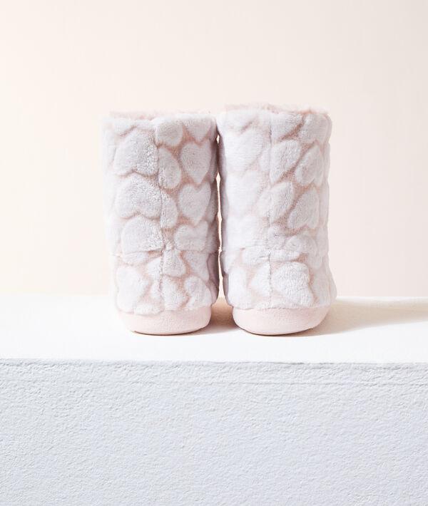 Zapatillas tipo botines estampado corazones;${refinementColor}