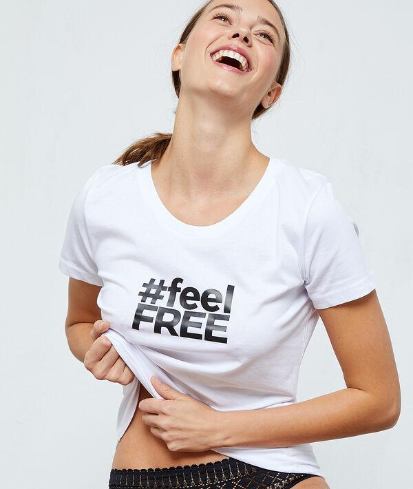 """T-shirt """"Feel Free"""" en coton"""