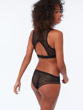 Braguita brasileña dos texturas negro.