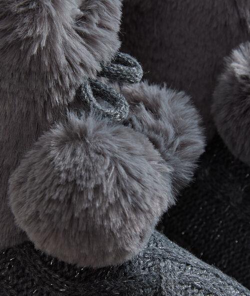 Zapatillas tipo botines forradas