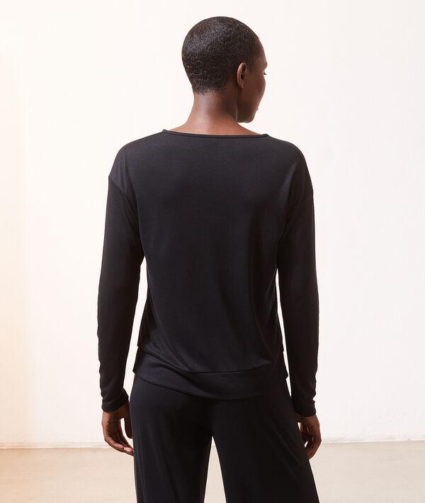 Camiseta manga larga tejido canalé;${refinementColor}