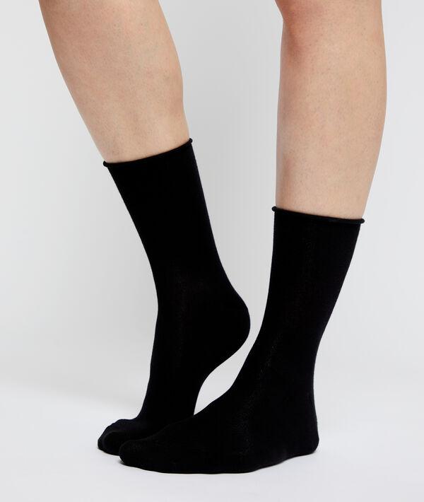 2 pares de calcetines de algodón bio;${refinementColor}