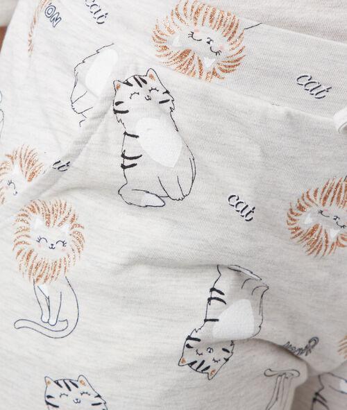 Pantalón estampado de gatos