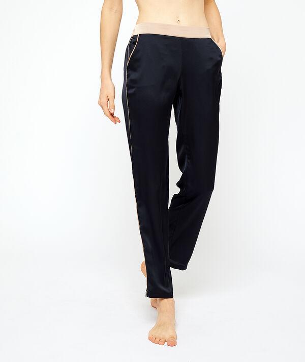 Pantalón pijama satén;${refinementColor}
