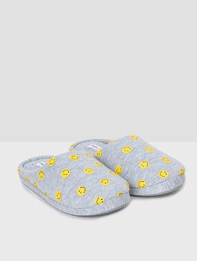 Zapatillas smiley c.gris.