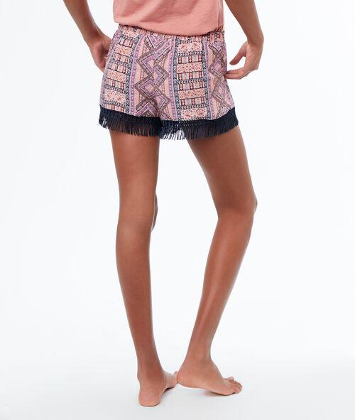 Pantalón corto flecos