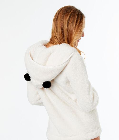 Chaqueta tejido peluche panda