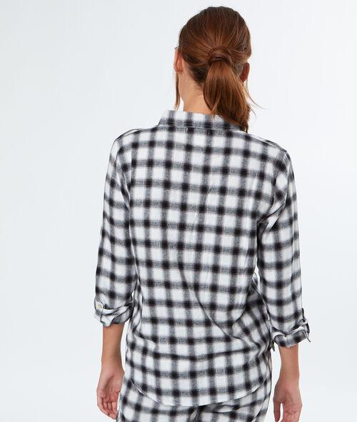 Camisa pijama estampado a cuadros