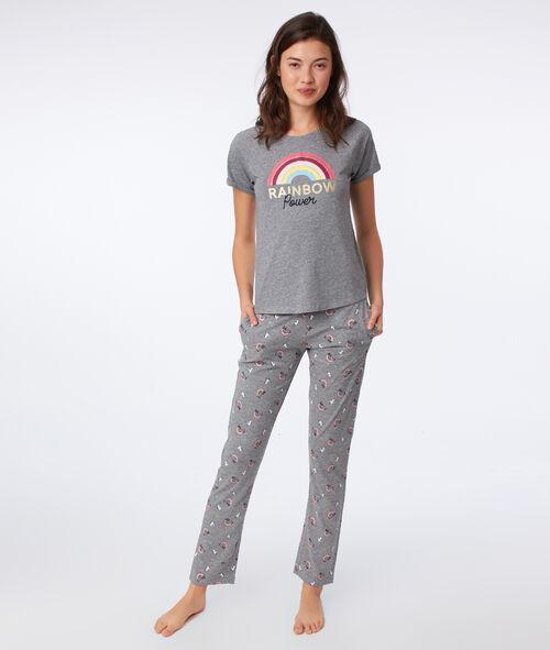 Camiseta dibujo arcoíris