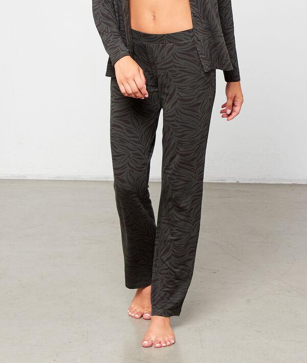 Pantalón pijama estampado cebra