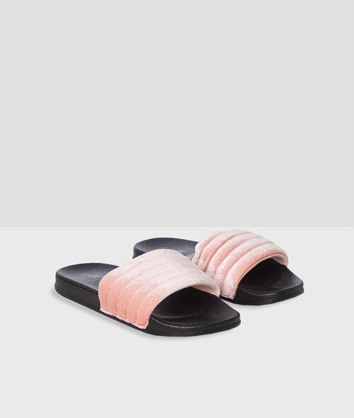 Zapatillas tipo chancla forradas