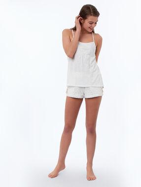 Top con bordados blanco.