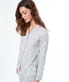 Camisa pijama estampada c.gris.