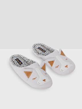 Zapatillas destalonadas leopardo c.gris.