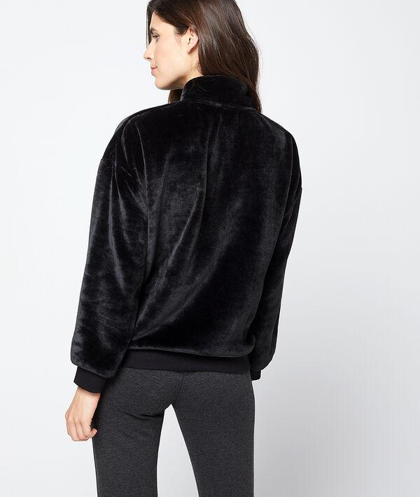 Chaqueta homewear tejido suave