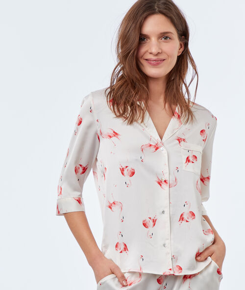 Camisa pijama estampado flamencos