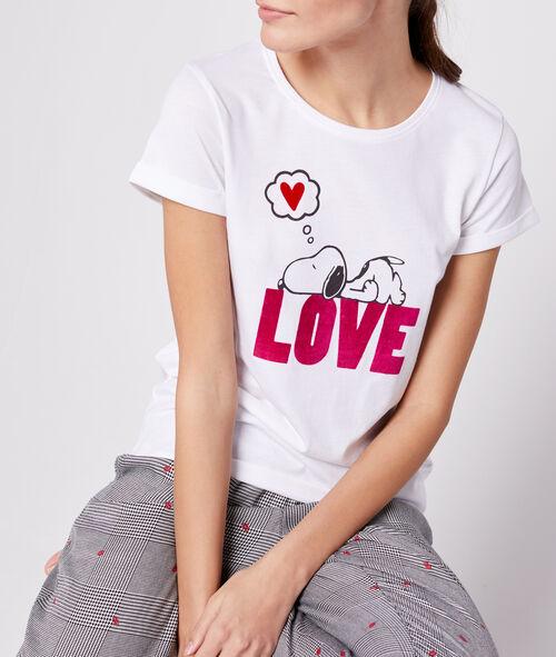Camiseta dibujo love Snoopy