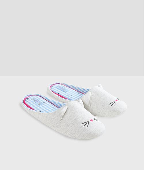 Zapatillas destalonadas gato