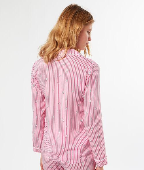 Camisa pijama estampada a rayas