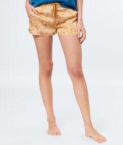 Pantalón corto estampado c.ocre.