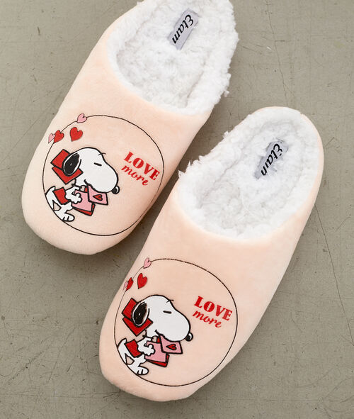 Zapatillas destalonadas con forro Snoppy