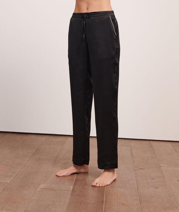 Pantalón pijama de seda;${refinementColor}
