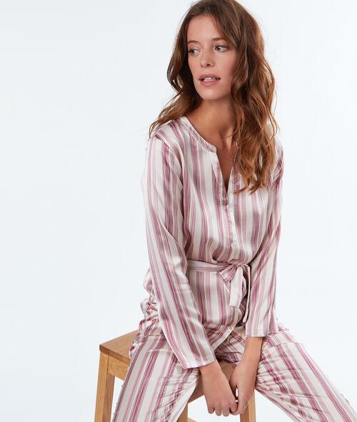 Camisa pijama satinada