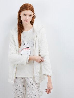 Pijama 3 piezas muñeco de nieve c.beige.