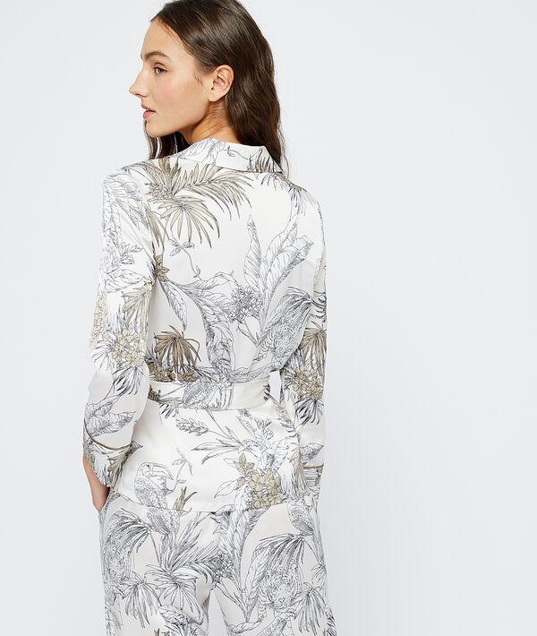 Camisa pijama estampado hojas;${refinementColor}