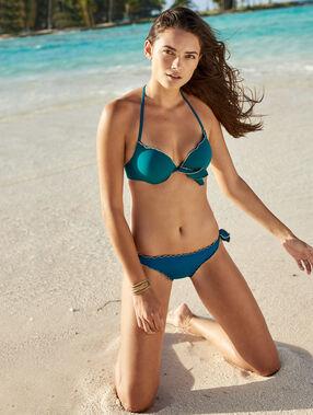 Sujetador bikini push up verde.