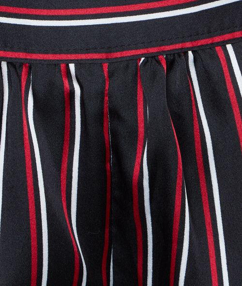 Pantalón de satén estampado a rayas