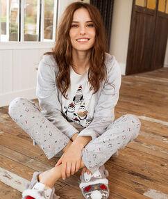 Pijama 3 piezas blanco.