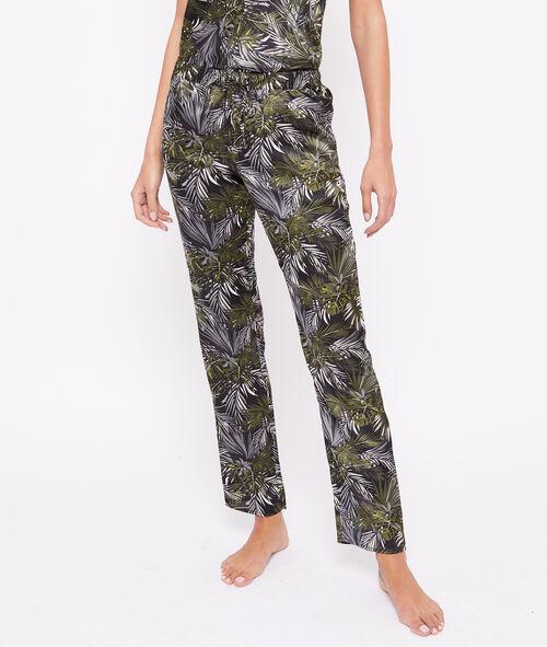 Pantalón estampado tropical
