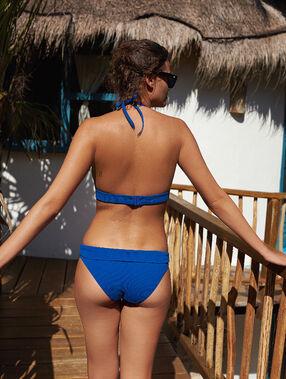 Braguita bikini multiposición azul.