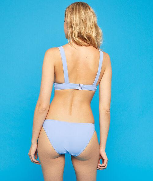 Sujetador bikini triangular con hebillas