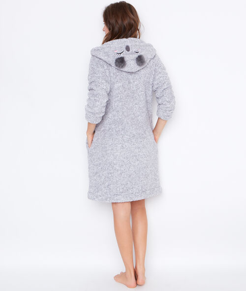 Bata koala tejido peluche