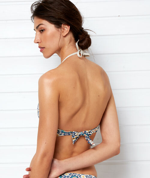 Sujetador bikini triangular estampado
