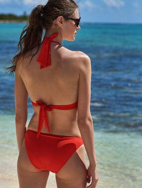 Braguita bikini ojales metálicos rojo.