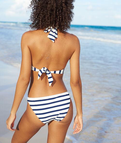 Braguita bikini estampado de rayas