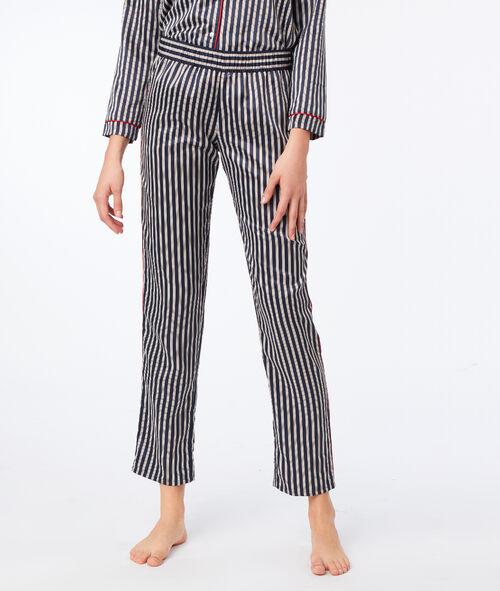 Pantalón estampado de rayas