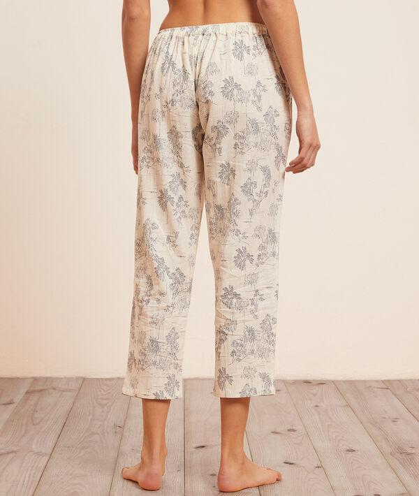 Pantaló pijama 7/8 estampado;${refinementColor}