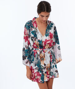 Kimono floral crudo.