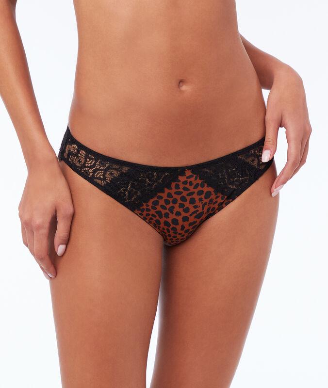 Braguita estampado de leopardo leopardo.