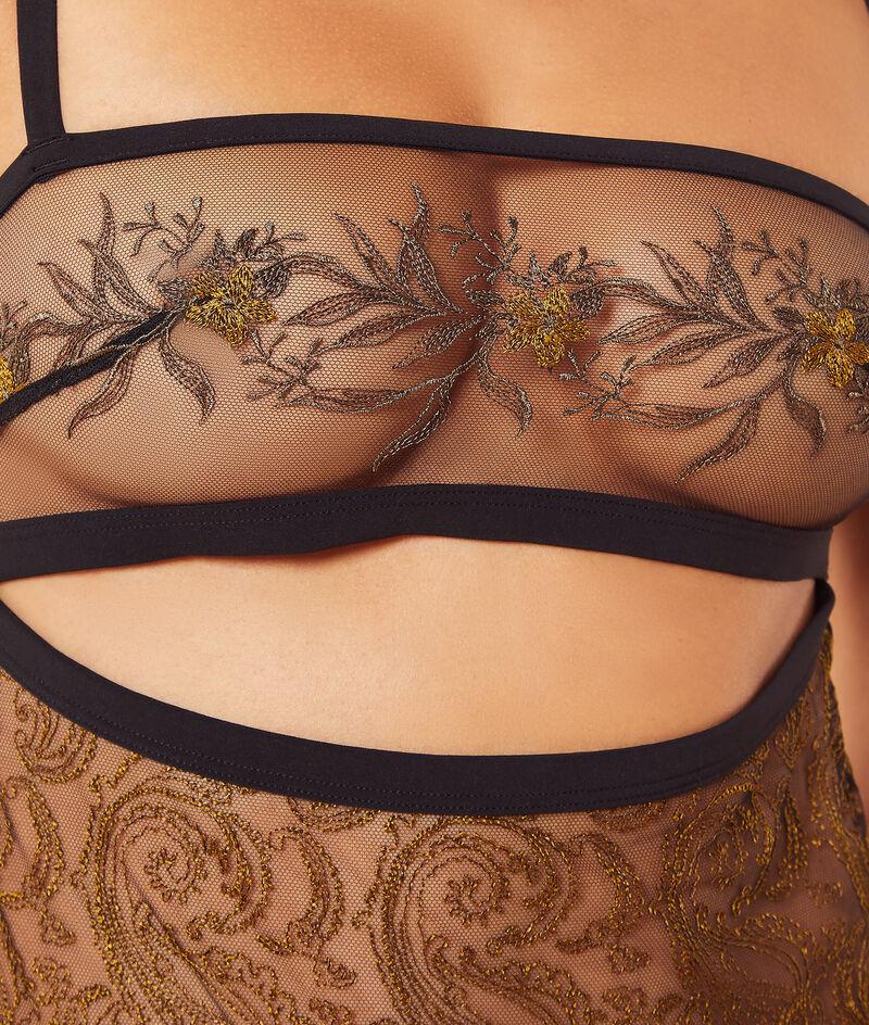 Body bandeau bordado en tul;${refinementColor}