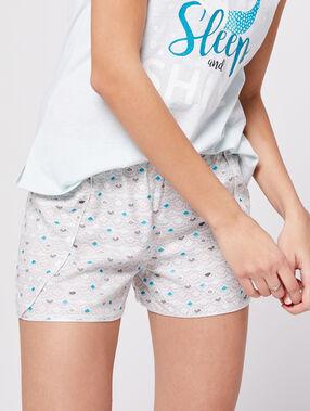 Pantalón corto motivos conchas marinas c.gris.