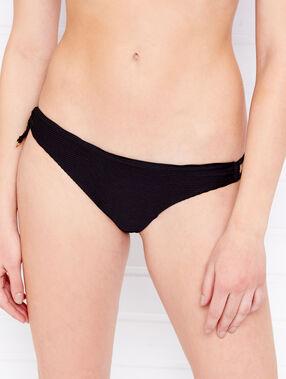 Bikini à ficelles noir.