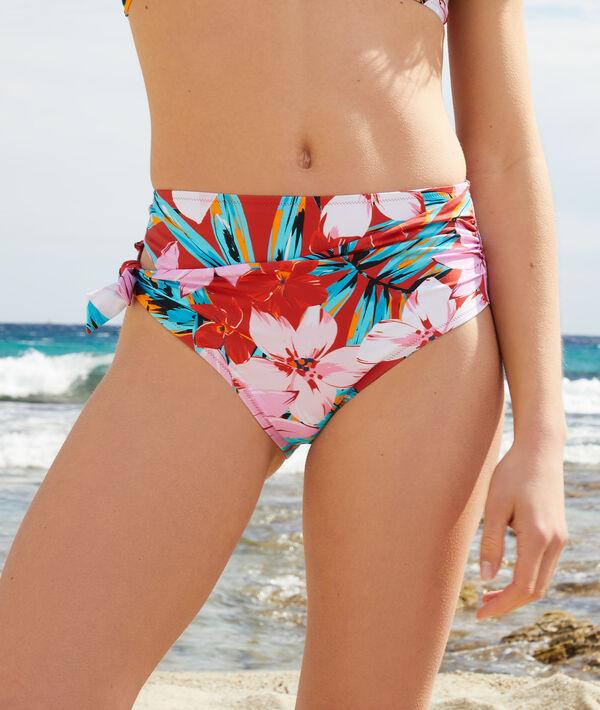 Braguita bikini talle alto estampada;${refinementColor}