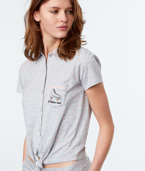 Camisa pijama estampado patines