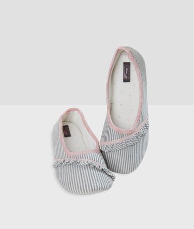 Zapatillas estampado a rayas crudo.