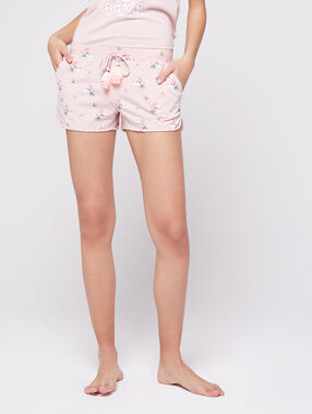 Pantalón estampado rosa.